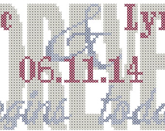 Wedding Cross Stitch Pattern Forever Begins Today