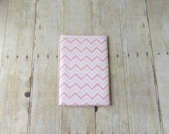 Pink Chevron Flannel Receiving Blanket