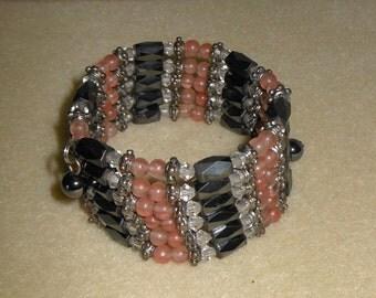 Magnetic Hematite/Genuine hematite beaded brackelet/hematite beaded choker/hematite beaded anklet/womens hematite bracelet/girls hematite br