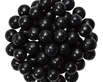 Black Pearls Edible Sugar Decorations Dragees Cupcake Cake Cookies Balls Toppers ( 2 Ounces)