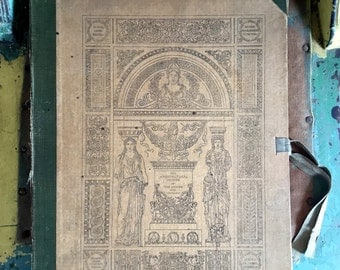 The Architectural Orders of The Greeks and Romans J M Mauch 1927 Hardcover Ribbon Tied Cover 100 Loose Bookplates on Card Stock