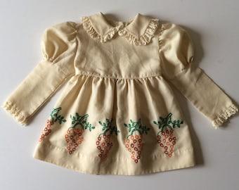 Vintage Fall Grapes Princess Sleeve Dress (4t)