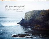 65% OFF Inspirational Art - Poetry Art - Photographic Print - Haiku Broadside - The Sea - 8x10 Fine Art Print