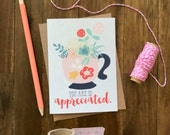 You Are So Appreciated Card // Perfect for Teachers, Co-Workers, Females