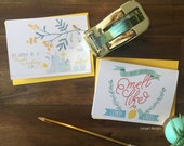 Bright and Cheery Notecards - Individual or Set of 4 - Perfect for any occasion