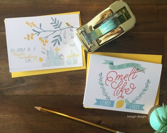 Bright and Cheery Notecards - Perfect for any occasion