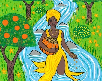 Oshun Prayer Card