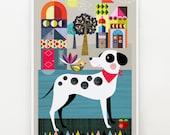 Pablo, Dalamation dog, print
