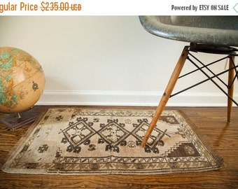 10% OFF RUGS DISCOUNTED 2x2.5 Muted Vintage Turkish Rug