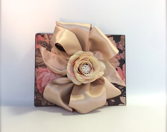 Champagne & Floral Chic Wedding Gift Box Favors Jewelry Gift Cards Mothers Day Bridesmaids Handmade Decorative Boxes Girl Lady Birthday