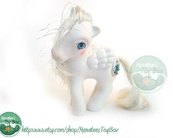 Vintage My Little Pony Princess Tiffany White and Silver by Hasbro