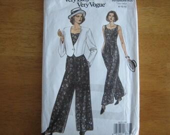 Vogue Pattern 8612 Misses' Jacket & Jumpsuit      1993       Uncut