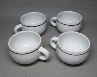 Denby VANILLA set of four cups stoneware England