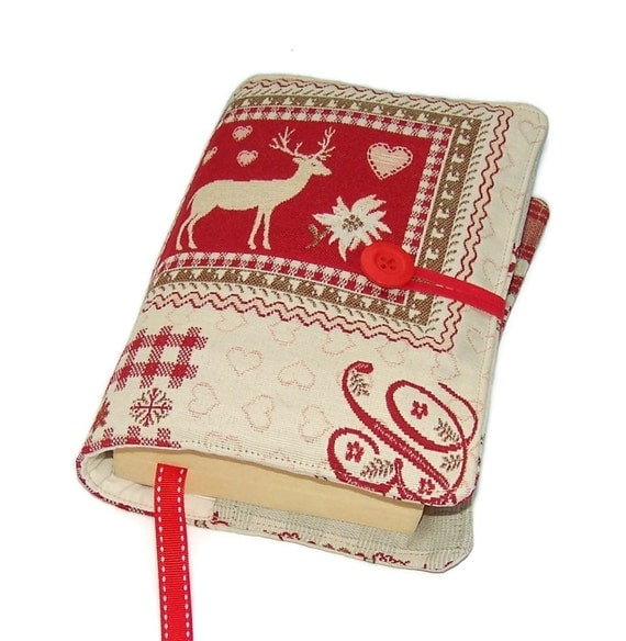 Fabric Book Covers Uk : Fabric bible cover handmade book swiss by