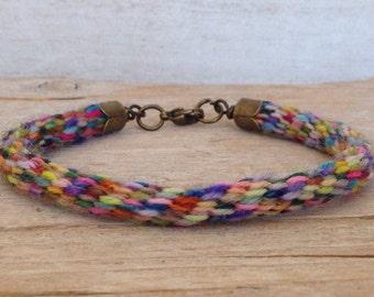 Braided Cord Bracelet - Braided Bracelet - Colorful Braided Bracelet - Handmade Bracelet - Handmade Jewelry - Bohemian Bracelet