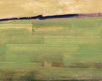 Original Oil Painting Landscape Painting Abstract Painting by John Shanabrook - 5 x 7 - Tillage