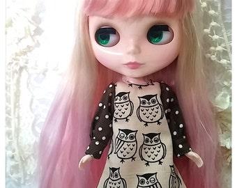 CottonCandyWorkshop Blythe Dress, Owl dress