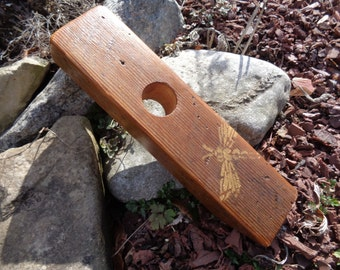 Reclaimed Barnwood Wine Balancer Dragonfly wine bottle holder
