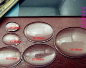 50pcs 14x10mm Oval Clear Glass Transparent Clear Oblate Cabochon Cameo Cover Cabs b14x10mm
