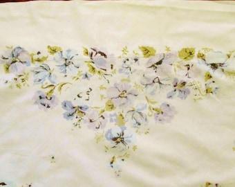 Vintage Stevens Sheet, Lavender & Blue Flowers, King