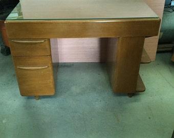 Mid Century Modern Heywood Wakefield Desk w/bookshelf end