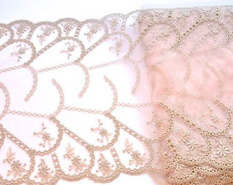 Pale Pink Sparkly Lace Trim, Wedding Dress, Extra Wide Trim, Old Rose Pink  Silver Lace, Ball Gown, Pink Glittery Lace