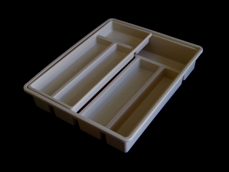 Plastic Silverware Tray Flatware Organizer 2 Tier