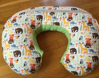 Woodland boppy pillow cover
