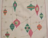 Vintage Christmas Ornaments Hankie