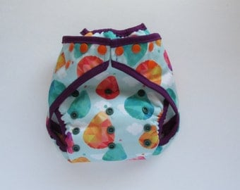 Hot Air Balloons Diaper Cover with Leg Gussets