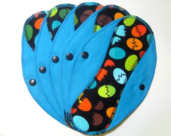 Pantyliners 9'' - Eggs - Washable - Reusable coth pads - Eco-friendly