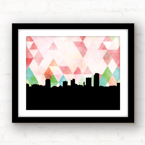 Little Rock Arkansas Art Watercolor Print Arkansas Print