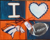 Sports Team Painting, Wall Art, Customizable, Acrylic on Canvas, Football