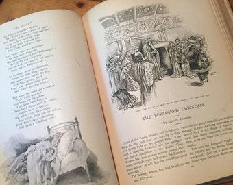 Antique Victorian St. Nicholas Illustrated Magazine Victorian binding old book illustrated