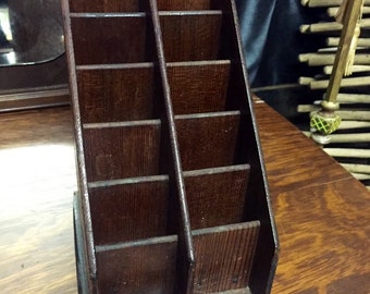 Antique wooden tobacco Paul Mall Advertising wooden store display