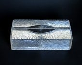 Vintage Celebrity New York NY Tissue Box Cover Starburst Clear Acrylic