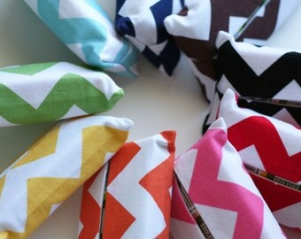 Pocket Tissue Cover, Travel Size Kleenex Pack Cover, Chevron Tissue Cover, Hostess Gifts under 10, Mother's Day Gift, Ready to Ship