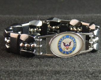 US Navy Magnetic Hematite Bracelet