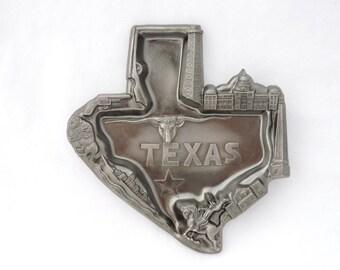 1950's Texas State Outline Souvenir Ashtray - Cast Metal - Japan