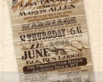 Country Western Ranch Wedding Invitations Western Rustic