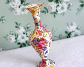 Vintage Chintz China Bud Vase