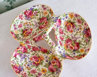 Vintage Relish Dish in Chintz China