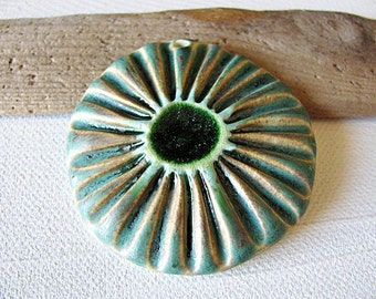 Green Sea Flower Pendant