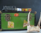 Vintage Travel Trunk/Suitcase  Small