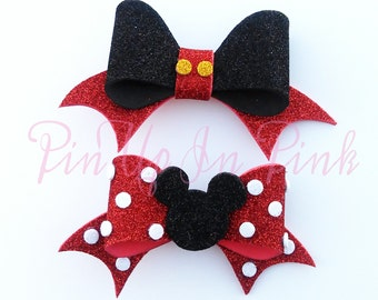 Mickey and Minnie Inspired Foam Bow