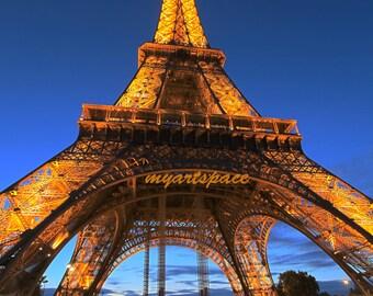 Eiffel Tower Paris art, lights on the Eiffel Tower Paris art, Wanderlust Paris, Paris Home Decor,  Housewarming Gift, gift for her