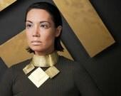 Brass Geometric Collar