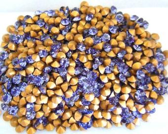 Swarovski 1012 Tanzanite 24ss Crystal Chatons Foiled - 12 Pieces