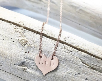 Heart Necklace, heart necklace, girlfriend necklace, anniversary gift, push present, gold heart pendant