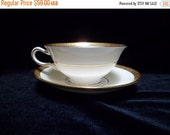 Valentine SALE Art Deco Mintons China of England , H3618 , Four Footed Cups and Saucers , T. Goode and Co. London